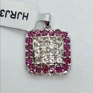 Genuine Serenite & Garnet Pendant